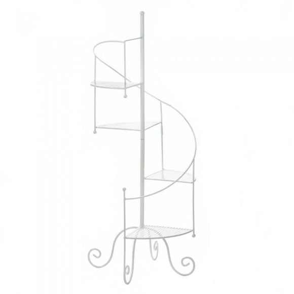 Summerfield Terrace 10017947 White Spiral Showcase Plant Stand