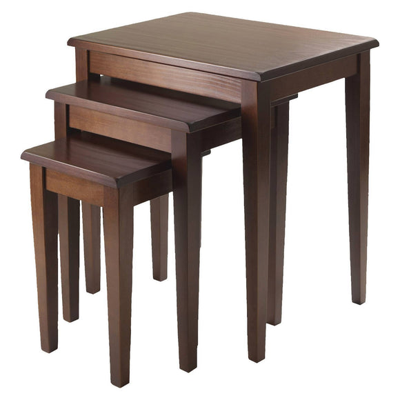 3 Piece Regalia Nesting Table Walnut Winsome