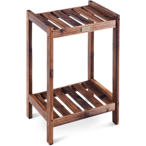 Wood Rack Plant Standing Multifunctional Storage Shelf-2-Tier