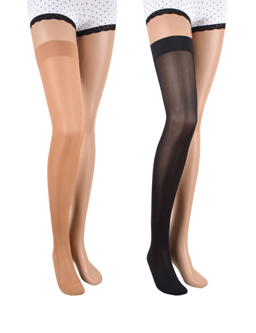23-32 mmHg / Closed Toe / Thigh-high Compression Stockings