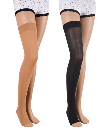 23-32 mmHg / Open Toe / Thigh-high Compression Stockings