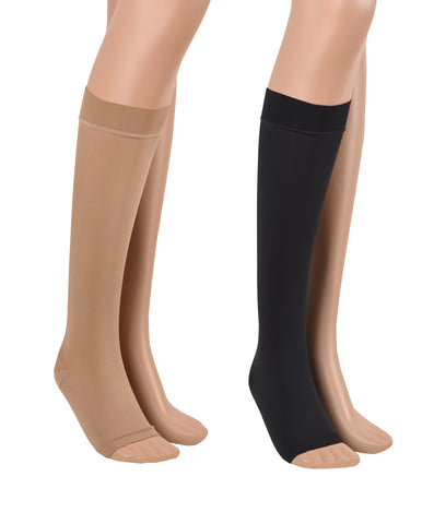 23-32 mmHg / Open Toe / Knee-high Compression Socks