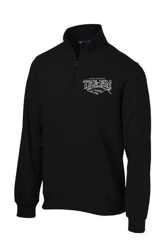 Men's Heritage Logo 1/4-Zip Sweatshirt in Black