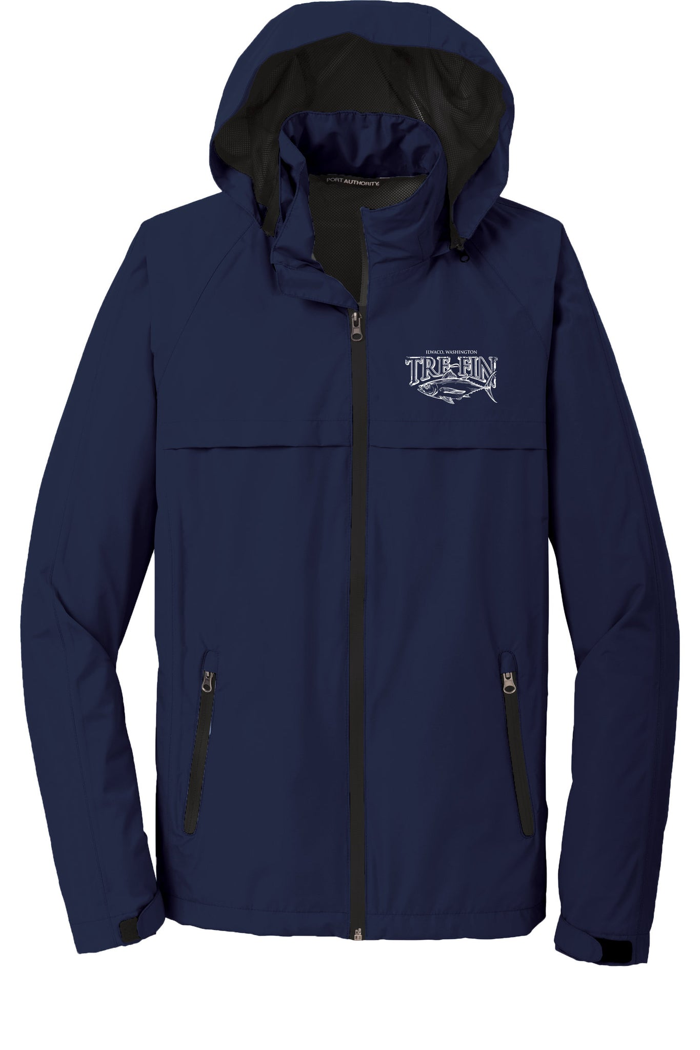 Men's Heritage Logo Waterproof Rain Jacket in Navy