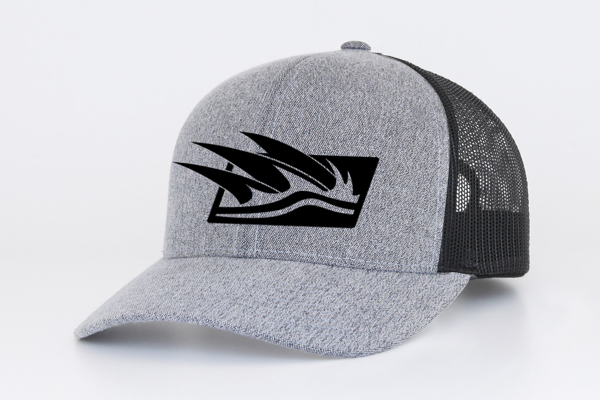 Tre Fin Logo Mesh Trucker Cap in Heathered Steel