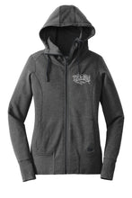 Load image into Gallery viewer, Women's Heritage Logo Full-Zip Hoodie Sweatshirt in Heathered Charcoal