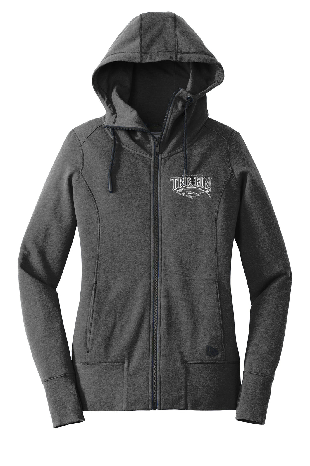 Women's Heritage Logo Full-Zip Hoodie Sweatshirt in Heathered Charcoal