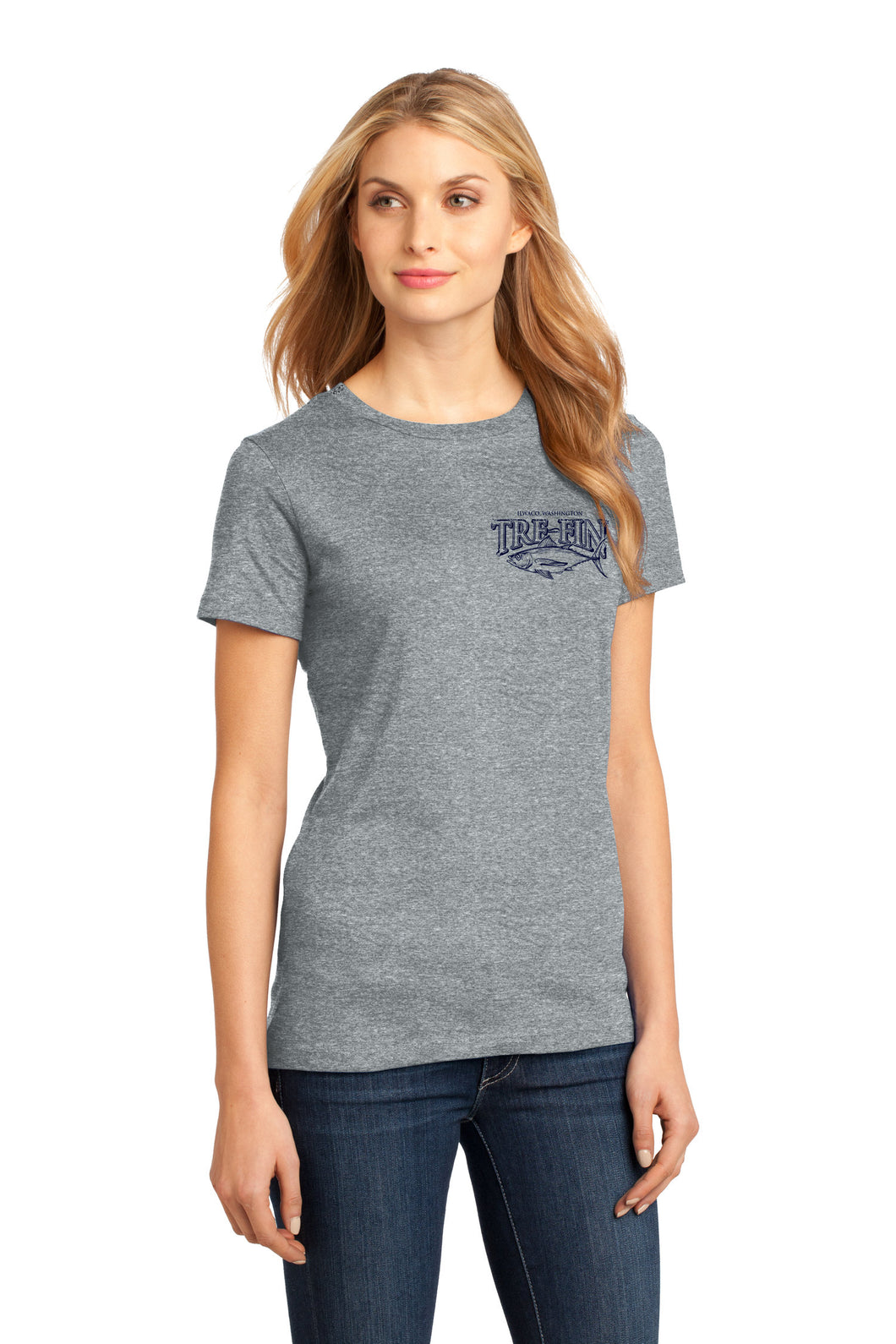 Women's Heritage Logo Short-Sleeve T-Shirt in Heathered Steel