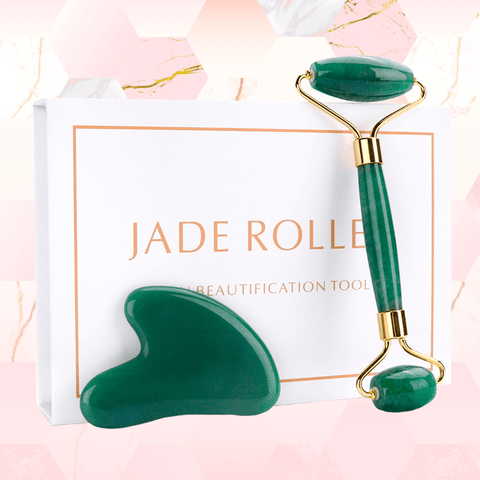 Image of Kit Rolo e Gua Sha de Jade