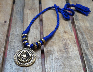 Blue Ethnic Choker