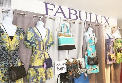 Dresses inside FABULUX Consignment