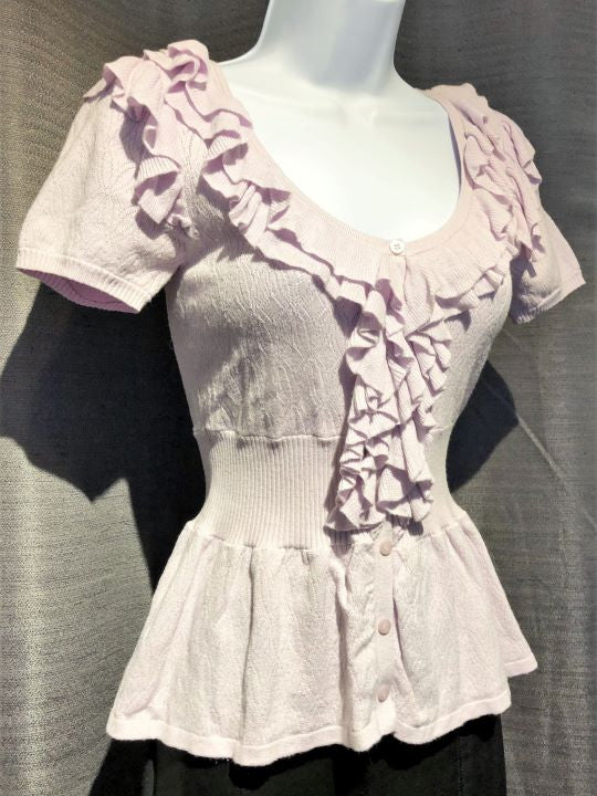 bebe XS Lavender Ruffled Top