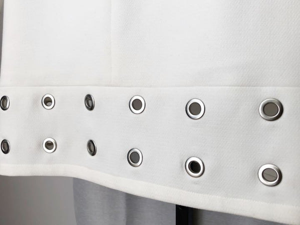 Shoshanna Size 4 White Dress Silver Grommets
