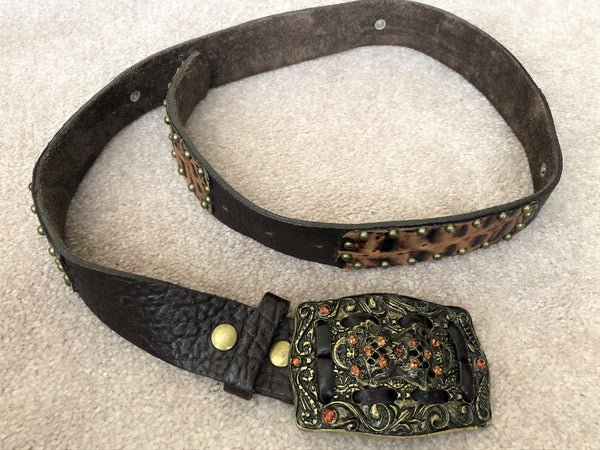 Belt - Leatherock Size SMALL Brown Leather