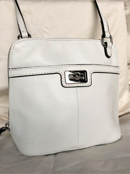 B. Makowsky White Leather Crossbody