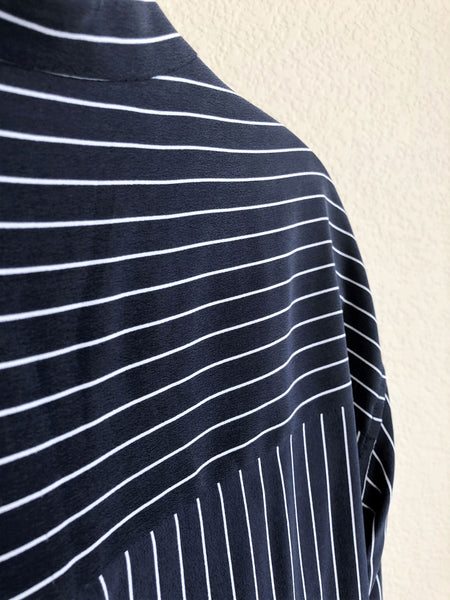 Equipment Size Small Navy Striped Dress