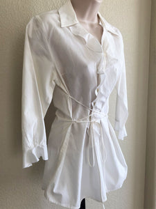 Anne Fontaine MEDIUM White Waist Tie Shirt