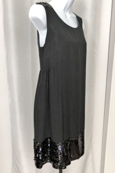 See by Chloe Size 6 Black Silk Sequin Dress