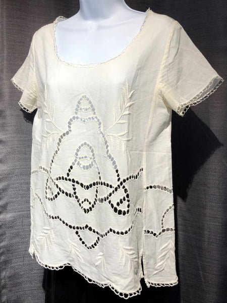 Joie Size SMALL Cream Eyelet Lace Top