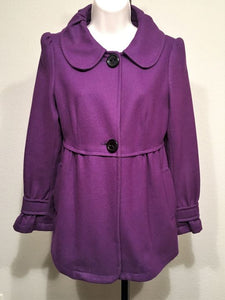 Anthropologie PIKO 1988 Size Small Purple Coat