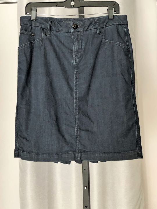 Level 99 Anthropologie Size 8 Blue Denim Skirt