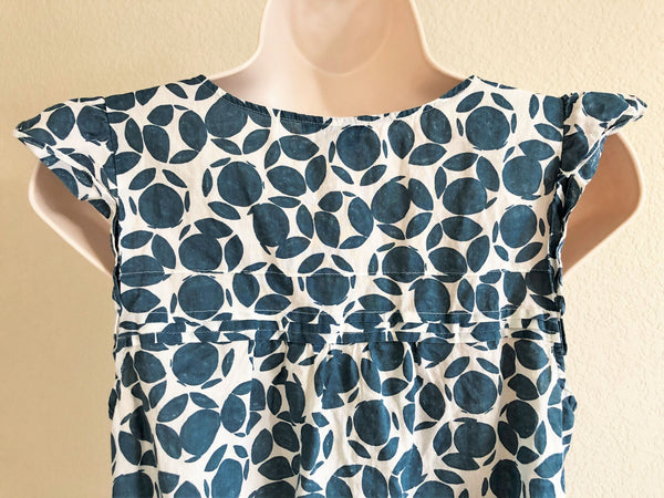 Theory Size Small Teal Print Top