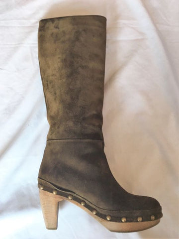Marni Size 9.5 Brown Suede Platform Boots