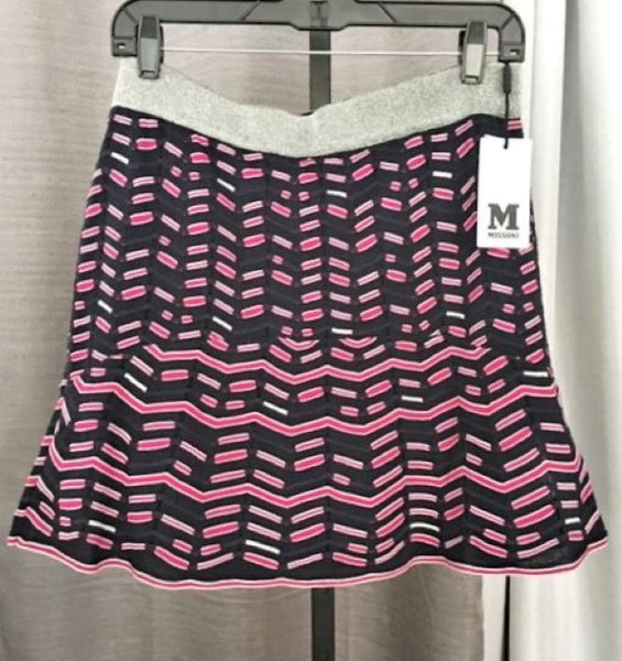MISSONI Size Large Navy and Magenta Skirt - NWT