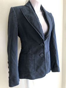 Escada Size Medium Vintage Navy Blazer