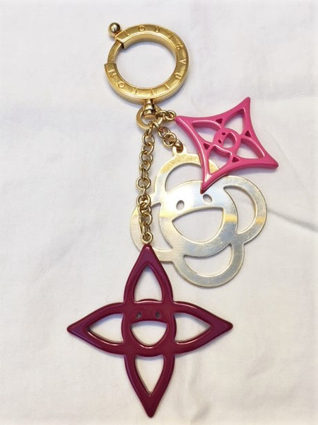 Louis Vuitton Bag Charm Gold and Pink