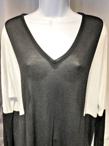 VINCE LARGE Black and White Top