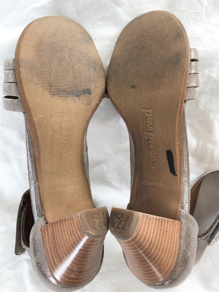 Paul Green Size 7.5 Rose Gold Sandals