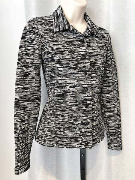 Betsey Johnson Small Petite Black and White Blazer