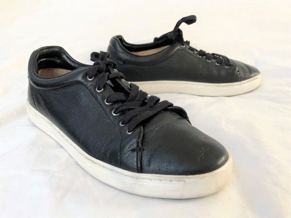 Rag & Bone Size 6 Black Leather Sneakers