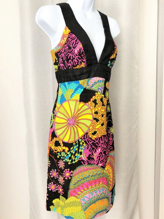Trina Turk Size 6 Multi Color Dress