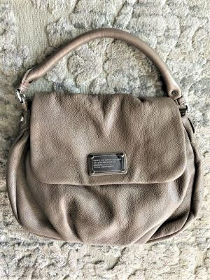 Marc Jacobs Taupe Leather Shoulder Bag