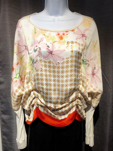 Tiny Anthropologie SMALL Silky Floral Blouse