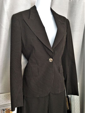 Yves Saint Laurent Size 4 Vintage Black Pants Suit