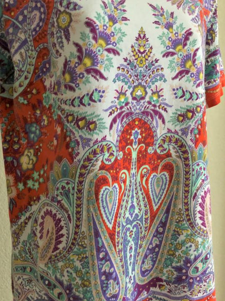 ETRO Size Medium Colorful Paisley Tee