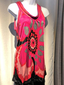 MISSONI MEDIUM Sleeveless Magenta Floral Tank Top