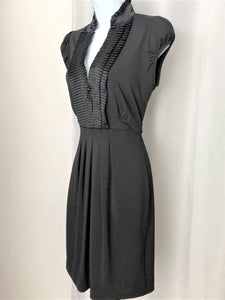 BCBGMaxazria Size XS Black Dress with Silk Detail