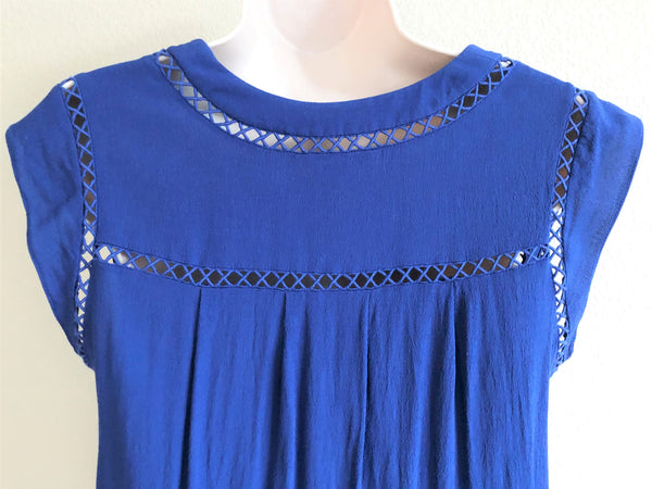 Rebecca Taylor Size 8 Blue Top