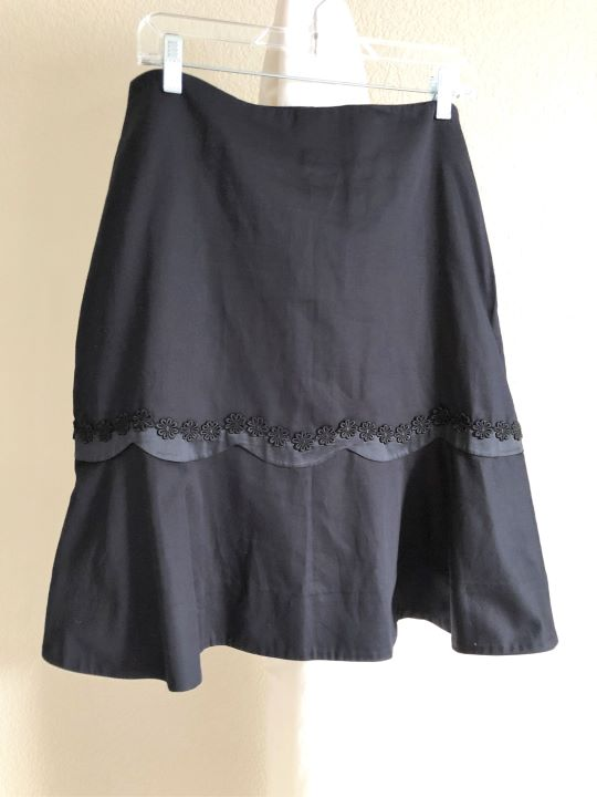 Odille for Anthropologie Sz 10  Black Skirt