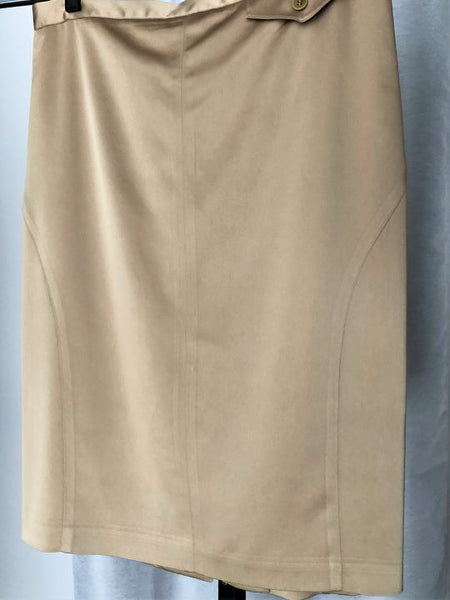 BCBGMaxazria Size 8 Gold Pencil Skirt