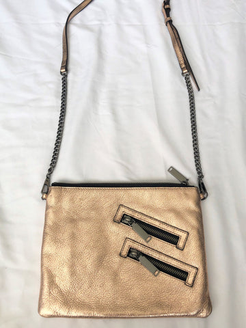 Rebecca Minkoff Rose Gold Metallic Cross Body