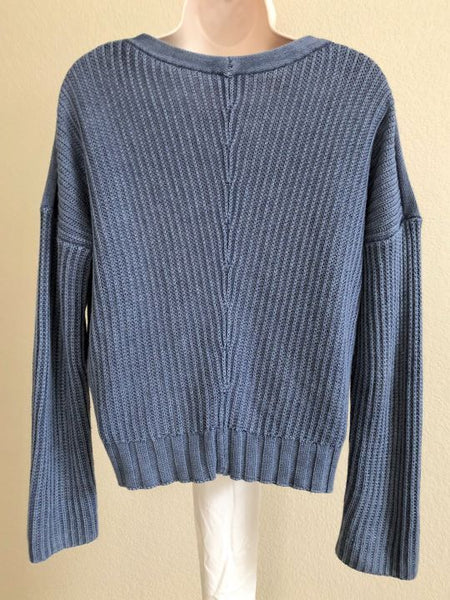 Rails Size Small Blue Ribbed Knit Sweater