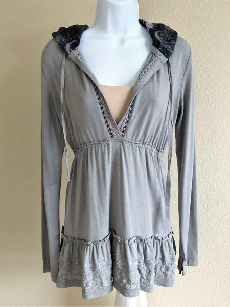 Anama Anthropologie Sz Small Gray Hoodie