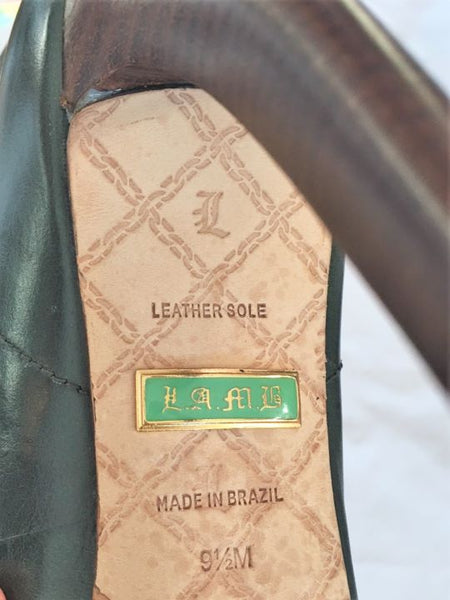 L.A.M.B. Size 9.5 Brown and Hunter Green Boots