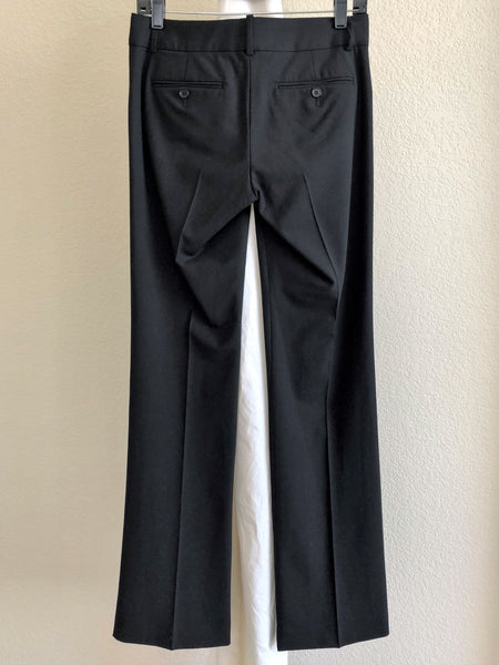 Theory Size 2 Black Wool Career Pants