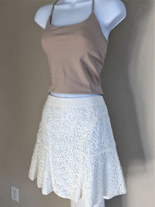 Rebecca Taylor Size 0 White Lace Skirt